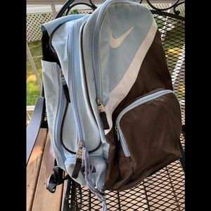 Nike tennis backpack. Blue, Black, Brown and White